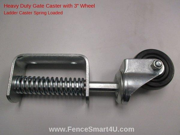 3 Inch Spring Loaded Swivel Wheel Gate Caster Heavy Duty