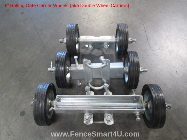 6 Quot Rolling Gate Carrier Wheels 6 Quot Double Wheel Carriers
