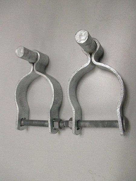 Pressed Steel Chain Link Fence Post Hinge W Bolt 2 Sets