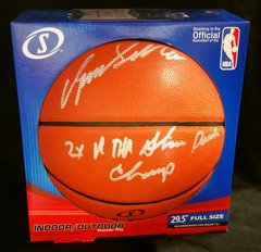 "Dominique Wilkins ""2x NBA Slam Dunk Champ"" Auto Basketball w/ Beckett C.O.A."