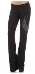 Yoga Pants with rhinestone design