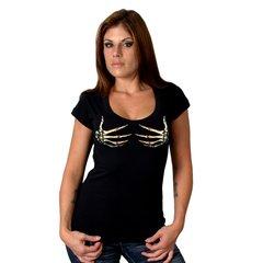 Skelton Hand Scoop Neck T-shirt