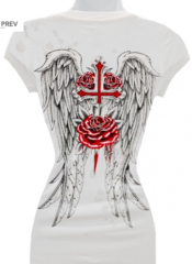 Wings Rose and Dagger Tee