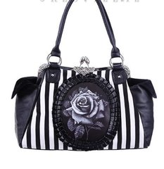 "Cameo Bag ""Black Rose"""