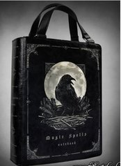 "Black Book Bag ""Magic Spells Raven"""