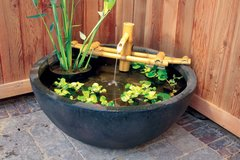 Adjustable Pouring Bamboo Fountain With Pump 78014
