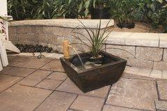 Aquatic Patio Pond Sq - Mini w/Deco Bamboo & Pump 78197