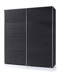 MAPLE Sliding Door Wardrobe 180cm Black Ash Effect