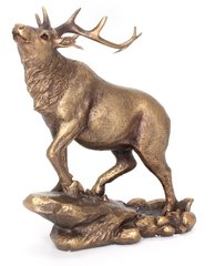 Bronzed Stag Ornament