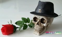 Large Skulls Head with Black Hat Money Box
