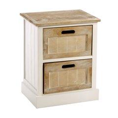 White Wooden Cabinet 2 Drawer 38 x 28 x 48cm