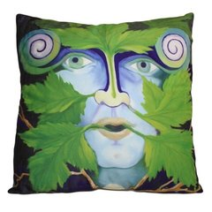 Green Man Cushion