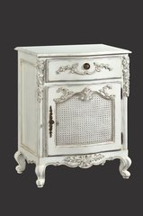 ADELE Antique White French Bedside