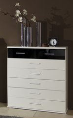 MULBERRY 2 + 5 Drawers Black and White Large Chest Of Drawers