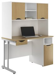 Desk, Drawer and Upper Storage Workstation