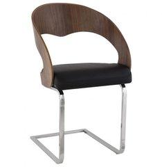 KOKOON Mona Art Deco Chair Walnut / Black