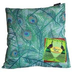 Moss Peacock Cushion