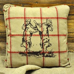 Beige Dancing Hares Cushion 45cm x 45cm