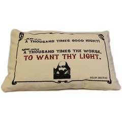 To Want Thy Light Cotton Canvas Cushion