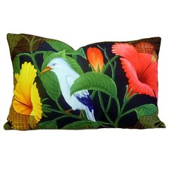 Exotic Flora Bird Cushion