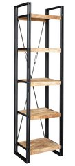 Indian Hub COSMO Industrial Style Slim Open Bookcase