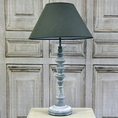 Silver Table Lamp with Grey Shade