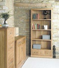 Baumhaus MOBEL Oak Large 3 Drawer Bookcase
