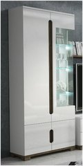 BLOSSOM Glass and White Gloss 2 door Display Unit