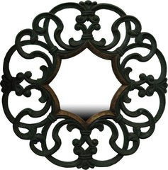 Round Carved Mirror
