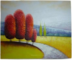 Trees Abstract - 50cm x 60cm Real Art Painting, Oil on Canvas