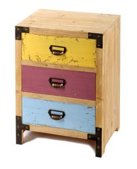 Wooden 3 Drawer Distressed Cabinet 41 x 30 x 58 cm