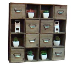 Multi Drawer Storage Unit with Square Handles