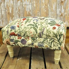 Floral Design Footstool With Drawer