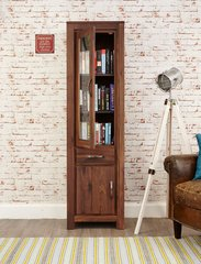 Baumhaus MAYAN WALNUT Narrow Glazed Bookcase