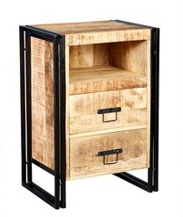 Indian Hub COSMO Industrial 2 Drawer Chest Side Table