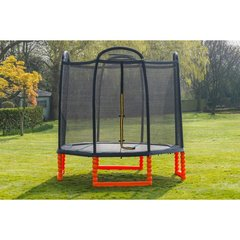 Duplay ® 10ft Black Edition Childrens Outdoor Trampoline with Air Pro Safety Net