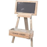 Wooden Easel Flower Stand with Blackboard