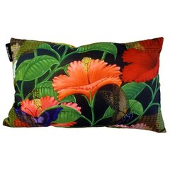 Exotic Flora Butterflys Cushion