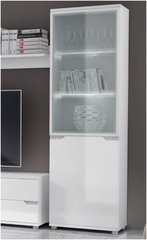 ROSE Tall Display Unit High Gloss White front