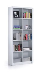BREEZE White Gloss Double Bookcase Squares