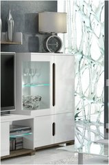 BLOSSOM White Gloss Low Display Cabinet