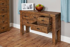 Baumhaus HEYFORD Rough Sawn Oak Console Table
