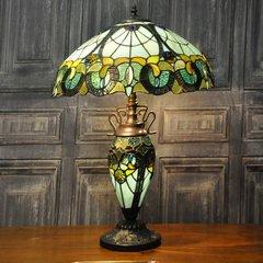 Multi Colour Double Tiffany Lamp