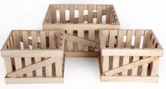 Set of 3 Wooden Storage Crates