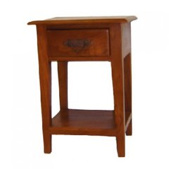 Bali Teak End Side Table with Drawer 100% Solid Wood