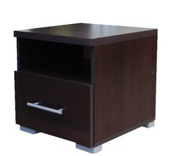 ANTHEA Bedside unit Wenge / Matt White / Oak