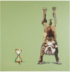 KOKOON Doggy Wall Canvas 100 x 100 cm