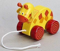 Children's Wooden Pull Along Deer Toy