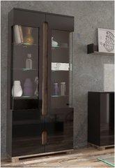 BLOSSOM Black Gloss 2 Glass Door Display Unit