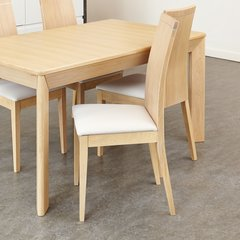 Baumhaus OLTEN UNO Stone Dining Chair in Light Oak Finish (Pack Of Two)